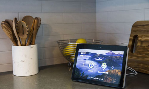 A tablet that controls the smart lights
